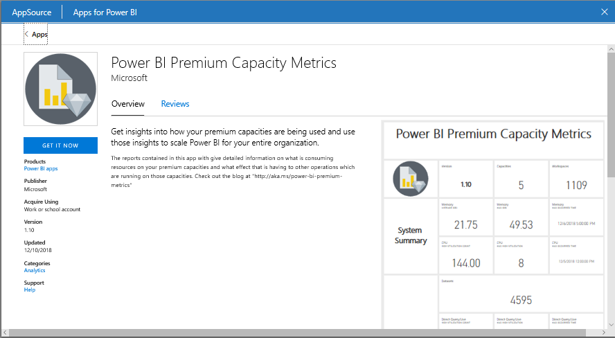 image 21 Power BI Premium Capacity Metrics app makes navigating and viewing metrics at workspace level easier!