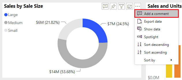 Visual level Add a comment Announcing Report Commenting for Power BI Service and Mobile