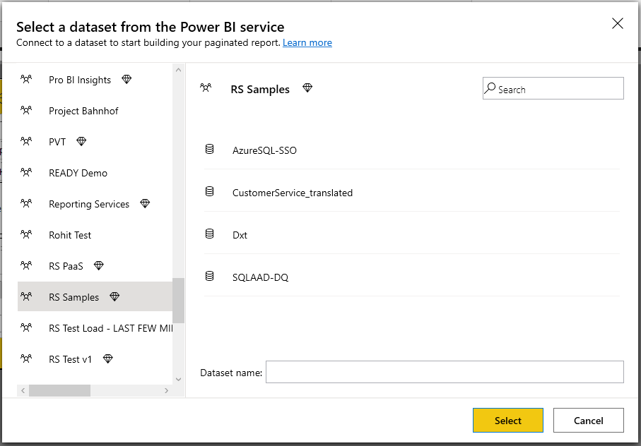 Image2 Announcing support for non Premium Power BI datasets in Power BI Paginated Report Builder