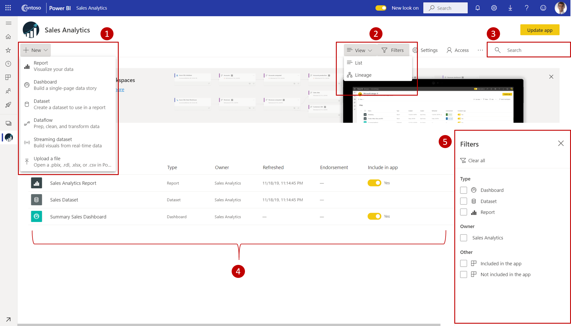 Introducing the new look of workspaces in the Power BI service