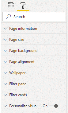 Personalize visual toggle at the page level
