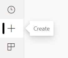 Create button in the left navigation pane of the Power BI service. Icon looks like the Plus sign