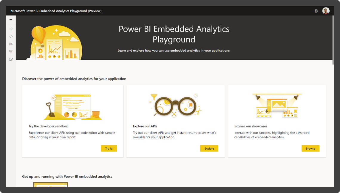 Power BI embedded analytics home