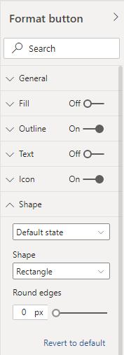 Format button menu