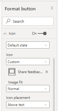 Customization of the image fit